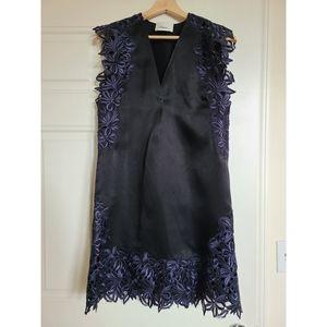 3.1 Phillip Lim satin lace lbd black mini dress 4